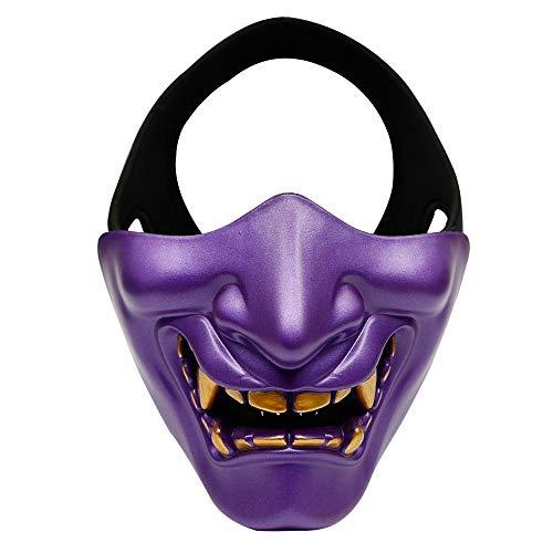 FOONEE Halbe Gesichtsmaske, Halloween Kostüm Cosplay BB Böse -