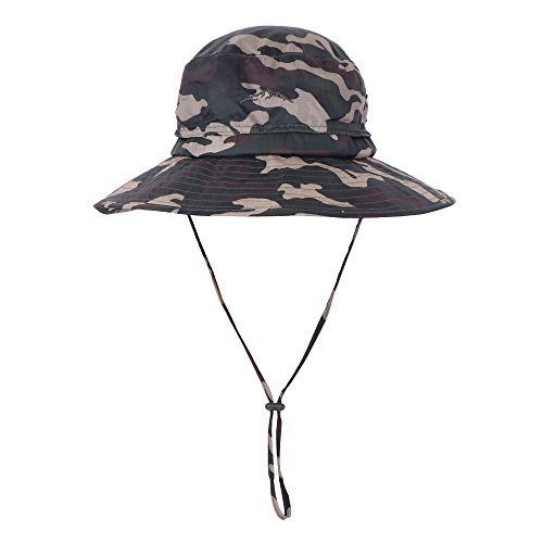 d56e11b95e2 Anyoo Outdoor Boonie Hat Breathable Wide Brim Summer Sun Cap UV Protection  Fishing Camouflage Hat for