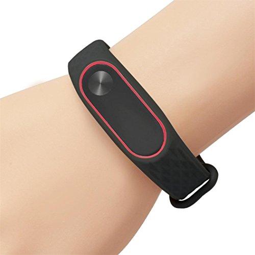 Upxiang Art und Weise ursprünglicher Silikon-Handgelenk-Bügel, Wiedereinbau WristBand Armband für XIAOMI MI Band 2 (Band Ein Kostüm Mann)