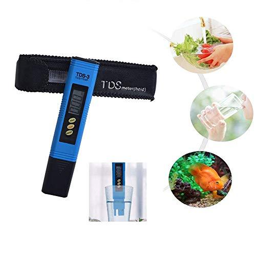 PH Messgerät,KOBWA Wasserqualität Tester ,TDS-Meter, EC-Meter & Temperaturmessgerät 3 in 1 für Aquarium, Schwimmbäder, Hydrokultur, Bier, Lebensmittel (Ph-bier)