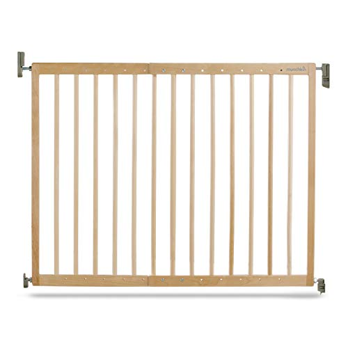 Munchkin Extending Wooden Gate - Barrera de seguridad de madera