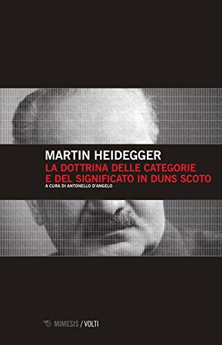La dottrina delle categorie e del significato in Duns Scoto por Martin Heidegger