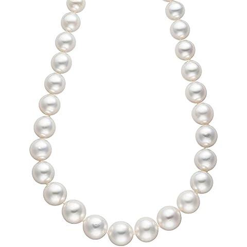 JOBO collana Collier di perle dei Mari del Sud perle 45cm chiusura 585oro collana - Coltivate Collana Di Perle Keshi
