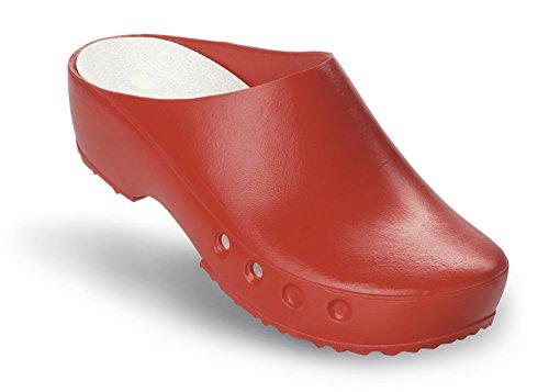 Schürr oP-chaussures chiroclogs classic avec et sans au niveau du talon Rouge