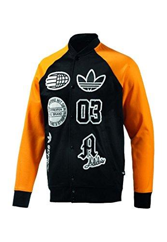 Adidas College Veste pour Homme Logo Stade TT s27485 Noir Jaune Medium Noir