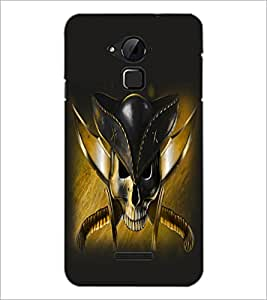 PrintDhaba Pirate's Skull D-1057 Back Case Cover for COOLPAD NOTE 3 LITE (Multi-Coloured)