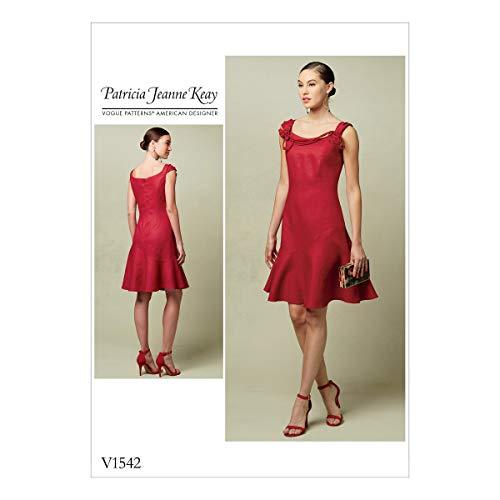 Vogue Patterns Patron de Robe de Petite, Multicolore, Tailles 14–22