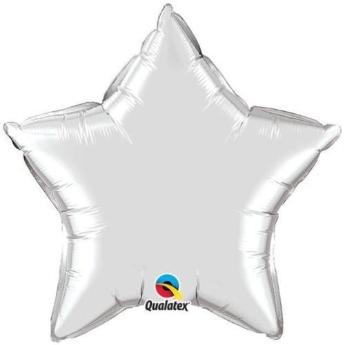 Qualatex 50.8cm foglio in forma di stella palloncini (Argento, pacchetto di 5)