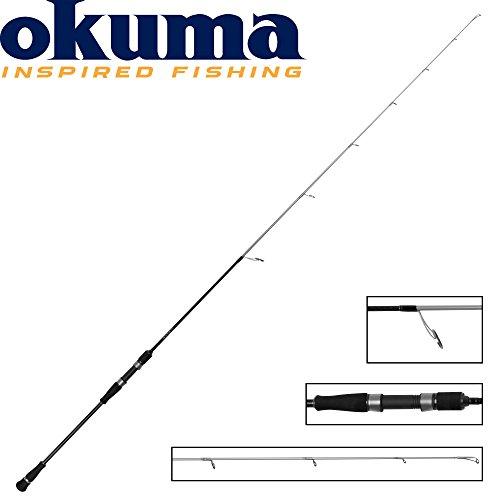 Okuma Azzores Slow Jig 203cm 60-140g - Spinnrute zum Spinnfischen & Jiggen im Meer, Meeresrute zum Spinnfischen, Leichte Bootsrute