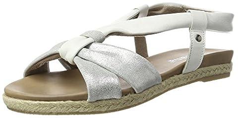Jana Damen 28102 Offene Sandalen mit Keilabsatz, Weiß (White 100), 39 EU