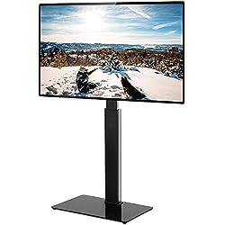 RFIVER Support TV sur Pied Meuble TV avec Support Pivotant Cantilever pour Télés et Ecrans LCD LED de 32 à 65 Pouces TF2003