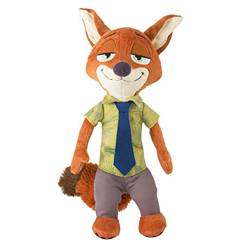TOMY Zootropolis Nick Wilde Soft Toy with Sound (Multi-Colour)