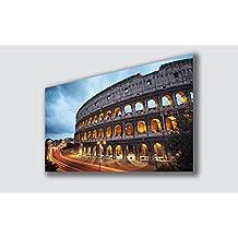 Quadro Moderno ROMA Colosseo- Tantissime Misure e Formati Disponibili - Stampa su Tela Canvas in HD - Quadri Moderni - Fornito già intelaiato e pronto da appendere printerland.it (50x70 cm)