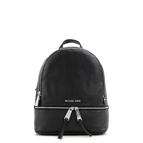 ZAINO RHEA ZIP MEDIUM BACK PACK BLACK NERO MICHAEL KORS