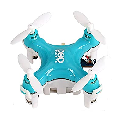 Smallest RC Quadcopter, Koiiko 3D Rollover Headless Mode DHD D1 Drone RTF Ready-To-Fly R/C Model Aircraft 6-Axis Gyro Helicopter with 2.4GHz Wireless Remote Control for Children Indoor Flying Gree