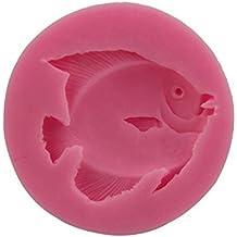 Hosaire Molde de Silicona de Pastel Molde de Fondant DIY Decoración de Repostería Pastel Cookie (Forma de peces de mar)