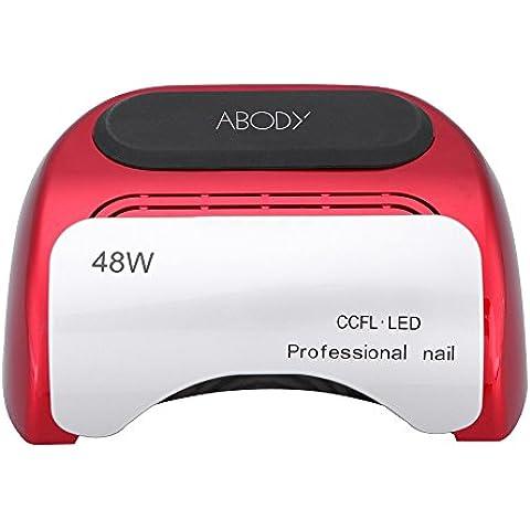 Anself Secador de uñas de inducción automático con temporizador CCFL + LED UV lámpara de luz para clavo de 110-220V 48W,