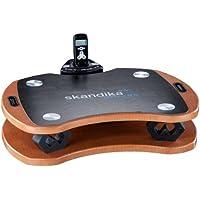 Preisvergleich für Skandika Home Vibration Plate 300, robuste Heim Vibrationsplatte in Holzoptik mit leistungsstarkem DirectDrive-Antriebssystem und kraftvollen 3D Vibrationen, braun/schwarz