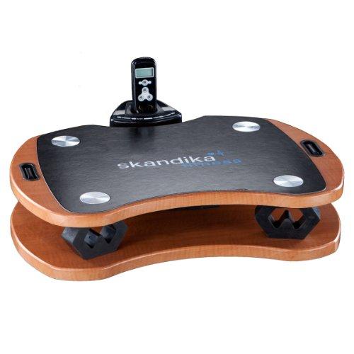 Skandika Home Vibration Plate 300, robuste Heim Vibrationsplatte in Holzoptik mit leistungsstarkem DirectDrive-Antriebssystem und kraftvollen 3D Vibrationen, braun/schwarz
