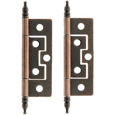 Curio China Schrank (H-57 Steeple Scharnier für Stopfen, ohne Einstecken, 2 Stück, inkl. gratis Bonus (Skelett-Schlüsselanhänger))