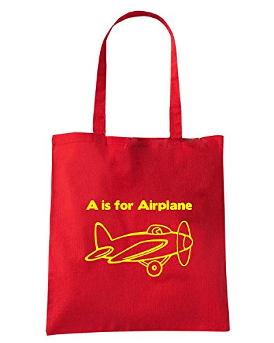 T-Shirtshock - Borsa Shopping FUN0521 aircraft clipart diecut decal 16 98716 Rosso