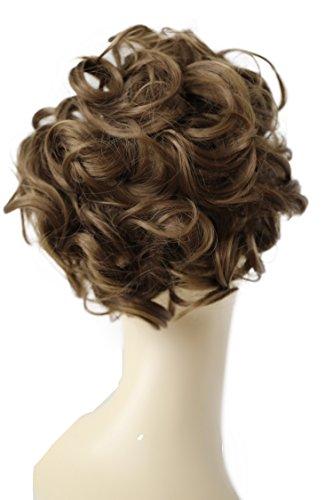 PRETTYSHOP Dutt Haarteil Zopf Haarknoten Hepburn-Dutt Haargummi Hochsteckfrisuren hellbraun #6 HK104