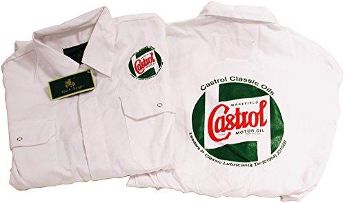 Preisvergleich Produktbild Castrol Classic weiß Mechaniker Overalls/Boiler Anzug mit vorne und hinten Logo
