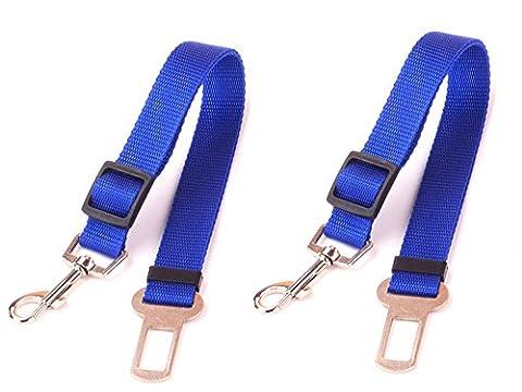 inolite Lot de 2pour chien Pet Ceinture de sécurité, Ceinture de Sécurité pour Voiture, camion, ou SUV–Véhicule Pet Harnais pour chien ceinture, réglable jusqu'à 66cm