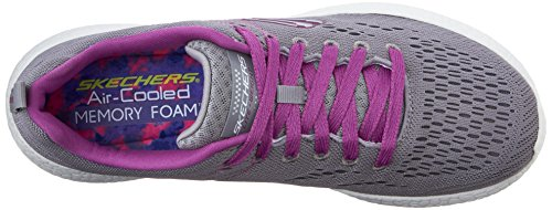 Skechers Burst New Influence, Baskets Basses Femme Gray/Purple
