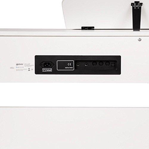 Schubert Subi88P2 • E-Piano • Keyboard • 88-Tasten • MIDI-Unterstützung • Anschlagdynamik • 138 vorinstallierte Instrumente • 118 Rhythmen • 31 Demo-Songs • 2 Pedale • LCD-Display • 3 Speicherplätze • zuschaltbares Metronom • Notenständer • weiß - 4