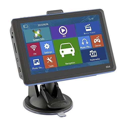 Alexsix 5 Zoll Navigations-HD Anzeigen-Nautiker GPS mit Sonnenschutz geben Karte für Auto-LKW-Bus-Taxi frei