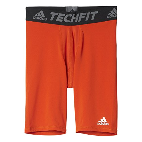 Allenamento da uomo Adidas Techfit base Short collant Orange