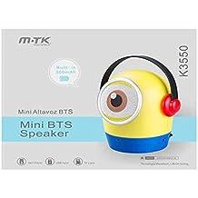 ALTAVOZ MINI-ONS K3550 BLUETOOTH / FM / MSD AMARILLO