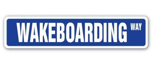 SignMission Wakeboarden Straßenschild Surfer Surf Wake Board Wakeboarder |-| 45,7cm Breit