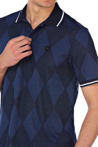 M.Conte Herren Polo-Shirt Polohemd Polo Kurzarm Polokragen Blau Weiß Grau M L XL XXL XXXL Odoardo Dunkelblau