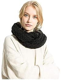 Freesiom Echarpe Femme Hiver Chaude Cachemire Tour de Cou Couleur Uni Cache  Cou Mode Simple Elegant b2fcea2c7e5