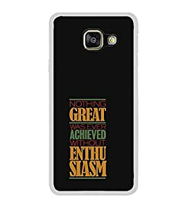 FUSON Great Achieved Enthusiasm Designer Back Case Cover for Samsung Galaxy A3 (6) 2016 :: Samsung Galaxy A3 2016 Duos :: Samsung Galaxy A3 2016 A310F A310M A310Y :: Samsung Galaxy A3 A310 2016 Edition