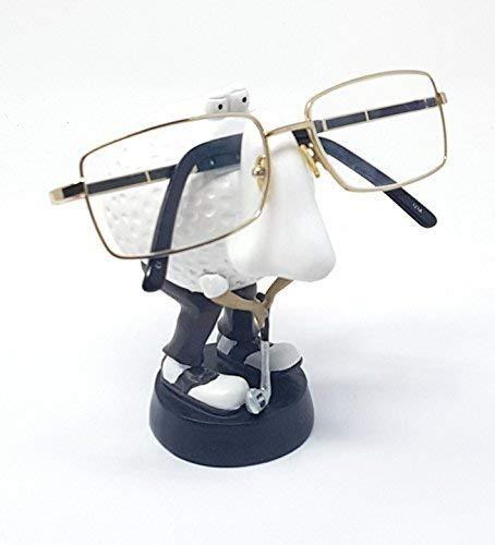 Golf Golfen Brillen Halter Ständer Handgefertigt Bemalt Schwarz Weiß Weihnachten Geburtstag Geschenk Papa Opa Son