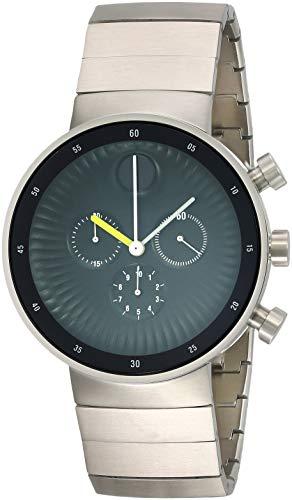 Movado Edge schwarz Aluminium Zifferblatt Swiss Chronograph Quarz Herren-Armbanduhr 3680009