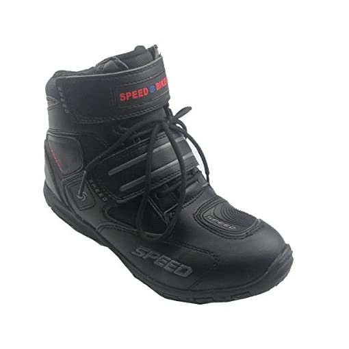 Madbike - Stivali da sport outdoor per motociclismo, da uomo, colore: nero