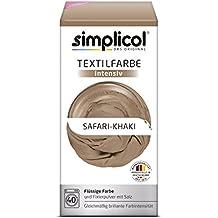 Simplicol Textilfarbe intensiv I Textilfärbung für die Waschmaschine I Färbemittel und Fixierpulver | Safari-Khaki 1815