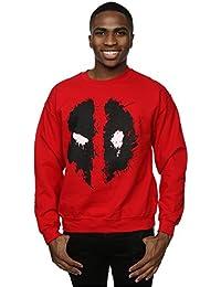 Marvel Herren Deadpool Splat Face Sweatshirt