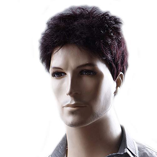 Herrenwisch, High Quality Natural Short Hair, geeignet für den täglichen Gebrauch,Black