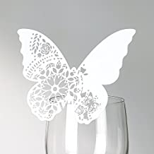 Talking Tables Modern Romance farfalla segnaposto bianco 10pezzi, multicolore