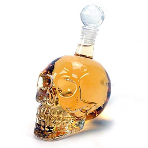 Infinitely Great Home Decor Center Dekanter mit Totenkopf-Motiv, Glasflasche, Whisky, Schnapsbar,...