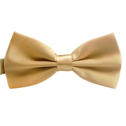 Coolster Mens Classic Skinny Bow Krawatten Krawatte Satin Formal Tuxedo Bowtie, Variety Farben erhältlich (Champagner)