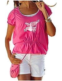 APART Fashion - T-shirt - Brassière - Opaque - Femme Rose Rose bonbon