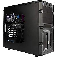 DeepGaming Axion - Ordenador gaming de sobremesa (Intel Core i7-9700, 8GB RAM, 480GB SSD, Nvidia GTX 1050 2gb ddr5, Sin Sistema Operativo) Color Negro