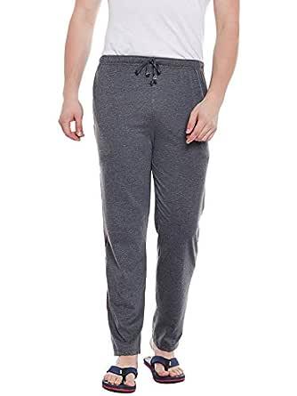 VIMAL JONNEY Men's Cotton and Crush Trackpant (Dark Grey, Small)