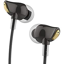 ROCK UA6125 Zircon Stereo Earphone with Microphone - Black